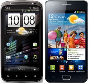 HTC Sensation vs Samsung Galaxy S2