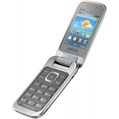 Телефон Samsung C3592 Titanum Silver